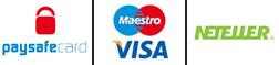 Τραπεζικεσ Επιλογεσ: Paysafe card | Maestro | Visa | Neteller
